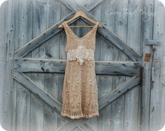 Crochet Dress Boho Wedding Dress / Country por GreenTrunkDesign