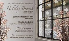Democrats Abroad Switzerland Holiday Brunch Sunday, December 14th, from noon to 3pm at Cercle des Bains, rue des Vieux-Grenadiers 10, 1205 Geneva