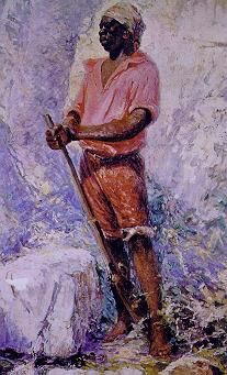 Zumbi Dos Palmares was one of the warlords of the largest independent kingdom of Palmares, founded in the seventeenth century by slaves insurgents in the northeast of Brazil.