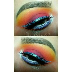#colorful #makeup #edcmakeup #glittermakeup #blueliner #lashes #colorfulmakeup
