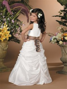 Miniature Bridal Gowns, flower girl dresses with trains. Description from jaksflowergirldresses.com. I searched for this on bing.com/images