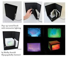 3 tunnel books with a light-up base with control for color and intensity. Total awsomeness.