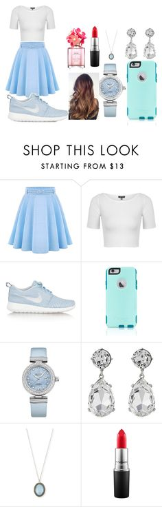 """""""Let's go Shopping"""" by sahara2313 ❤ liked on Polyvore featuring WithChic, Topshop, NIKE, OtterBox, OMEGA, Kenneth Jay Lane, Armenta, MAC Cosmetics, Marc Jacobs and women's clothing"""