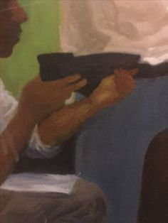 Close up of a mural. I see an African American kid working. Is this freedom?
