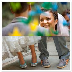 I would totes do this!! Have some crazy shoes under a wedding dress!