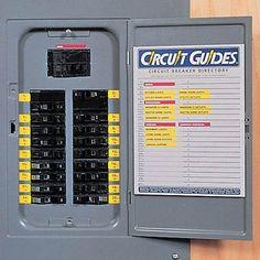 breaker panel labels