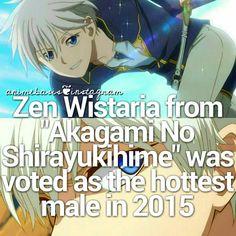 Anime / Manga fact // Zen Wistaria , Shirayuki , Akagami No Shirayukihime , Snow White with the Red Hair