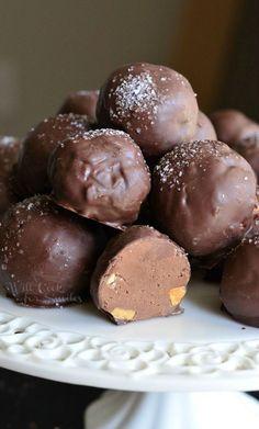 Salted Almond Fudge Truffles | from willcookforsmiles.com