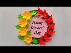 Handmade Greetings, Greeting Cards Handmade, Happy Teachers Day Card, Diwali Diya, New Year Greetings, Teachers' Day, Teacher Favorite Things, Make Happy, Card Making