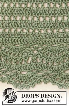 Crochet Edgings Design Ravelry: Spearmint pattern by DROPS design Poncho Au Crochet, Crochet Poncho Patterns, Crochet Motif, Baby Knitting Patterns, Hand Crochet, Free Crochet, Scarf Patterns, Knit Cowl, Crochet Edgings