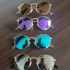 More Shades* Sunglasses Fashion* Style* Clothing* Denim Shirts* Rayban Sunglasses* Accessories* Ray Ban Sunglasses* Round Sunglasses Fashion trends Cool Sunglasses, Wayfarer Sunglasses, Sunglasses Accessories, Round Sunglasses, Mirrored Sunglasses, Sunnies, Trending Sunglasses, Lunette Style, Cute Glasses