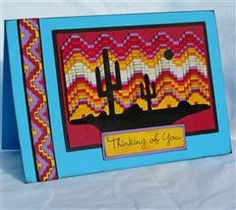 Project Center - Southwest Sunset with Cactus Card