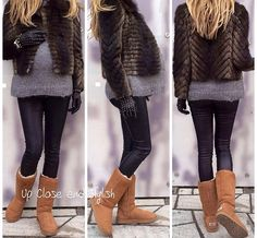 Leather and Uggs
