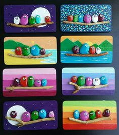 Creative Ideas for Painted Pebble and River Stone Crafts Diy And Crafts, Craft Projects, Crafts For Kids, Arts And Crafts, Stone Crafts, Rock Crafts, Pebble Painting, Pebble Art, Painting Art