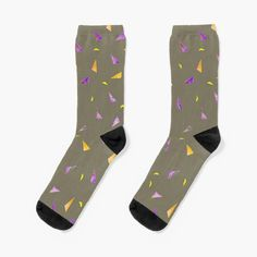 'Triangle Stamps Pattern' Socks by whya My Socks, Pattern Making, Cotton Tote Bags, Chiffon Tops, Triangle, Classic T Shirts, Stamps, My Arts, Art Prints