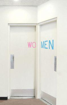 bathroom signs ;)