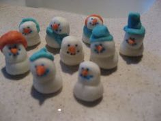 Snowman Mints. This is an American Girl recipe that my neighbor and I used to make. They were so good!