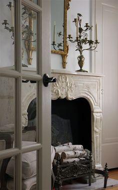 Fabulous stone fireplace mantel