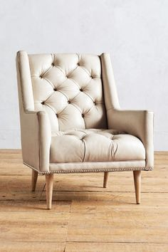 Premium Leather Booker Armchair #HamptonsStyle #AnthroFave
