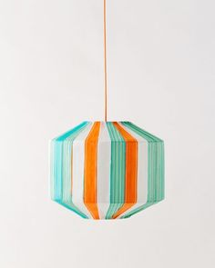 Recycled beach chair hanging lamp by Colonel
