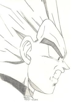 Fan Art, Vegeta from Dragon Ball Z (Pencil on Paper) A sketch of Vegeta when Cell killed Trunks * Please comment if you Fav or Collect ^_^ * Vegeta (c) . Dragon Ball Z - Vegeta Sketch Anime Mouth Drawing, Goku Drawing, Ball Drawing, Dbz Drawings, Easy Drawings, Pencil Drawings, Best Anime Shows, Drawing Cartoon Characters, Sketches
