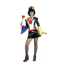 Masquerade Concepts Queen of Hearts Halloween Costume Womens Size XS 2-6 NEW