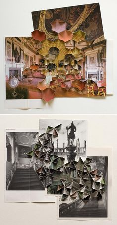 Folded / some lovely folded collages from Abigail Reynolds.