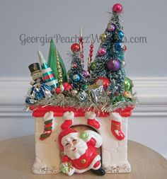 Image of Vintage Santa in the Chimney Planter Holiday Explosion