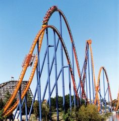 A few years ago, I went to visit some of my dads friends in Toronto and we decided to go to this awesome amusement park called Canada's wonderland. This roller-coaster in this image is called the Behemoth. It is my favourite ride of all times. It's the fastest, longest and highest roller-coaster in Canada!! Hopefully ill go back one day!