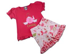 Tea Party Birthday Shirt with Teapot Number and Matching Ruffle Shorts by SunbeamRoad on Etsy