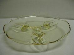 Vintage Lancaster Glass Petal Topaz or by hazeleyesartglassetc $54.99