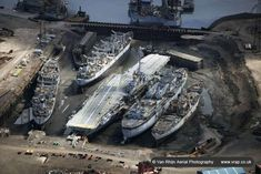 HMS Audacious waiting to be scrapped @ Ship breakers yard, Hartlepool, England