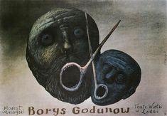 Boris Godunov Borys Godunow Eidrigevicius Stasys Polish Poster