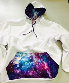 Galaxy hoodie sweatshirt by CreatedbyMaMa on Etsy