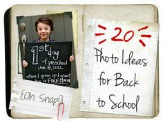 {Oh Snap!} 20 Photo Ideas for Back 2 School!  (via omg!...I could soooo make that!)