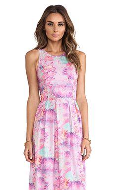 ISLA & LULU Ivory Gate Maxi Dress in Petal Print   REVOLVE