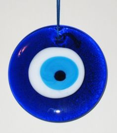 """In Greece and Turkey they have something similar to the Hamsa which they call a """"Nazar"""". It is just an eye without the hand but it is used in the same way and has the same meaning as the Hamsa, that is, to ward off the evil eye, in the form of amulets or hanging ornaments usually made from blue glass. - See more at: http://consciousreporter.com/conspiracy-against-consciousness/corruption-sacred-symbols-all-seeing-eye/#sthash.67fNN6m5.dpuf"""