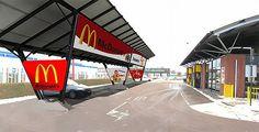 Giulio Barbieris solar carport for Mc Donalds