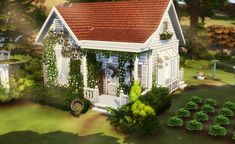 Sims House Design, Sims Building, Sims 4 Build, Sims 4 Mods, Sims Cc, Cottage Homes, Animal Crossing, Tiny House, Laundry