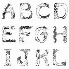 Mermaid Alphabet by DesignsByRyn on Etsy