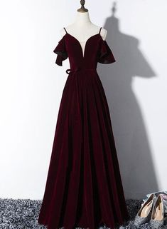 Beautiful Wine Red Velvet Party Dress, Wedding Party Gowns, Prom Dresses 2019 - Beautiful Wine Red Velvet Party Dress, Wedding Party Gowns, Prom Dress – BeMyBridesmaid Source by - V Neck Prom Dresses, Red Wedding Dresses, Sexy Dresses, Evening Dresses, Short Dresses, Bridesmaid Dresses, Wedding Gowns, Long Party Dresses, Dress Prom