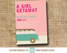 Road Trip Themed Bachelorette Invitation- Travel Party Bachelorette Invite or Hen Party, Printable File- Road Trip Invite for Hen Party. Click through to find matching games, favors, thank you cards, inserts, decor, and more. Or shop our 1000+ designs for all of life's journeys. Weddings, birthdays, new babies, anniversaries, and more. Only at Aesthetic Journeys