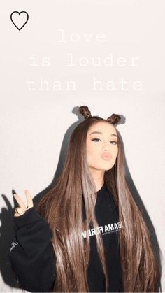 Ariana grande⭐️ love is louder than hate ⚡️