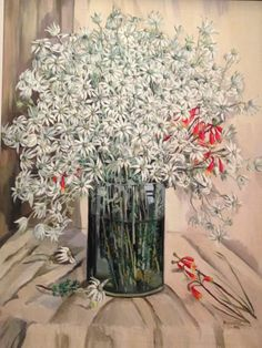 Margaret Preston what a great Australian artist. I love flannel flowers Margaret Preston, Margaret Rose, Australian Painters, Australian Artists, Flower Vases, Flower Art, Potted Flowers, Flannel Flower, Aboriginal Art