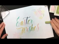 Stampin Write Marker Brush Lettering Easter Wishes Paper Ribbon, Diy Paper, Paper Crafts, Brush Lettering, Hand Lettering, Happy Easter Wishes, Beautiful Handmade Cards, Marker, Just For You