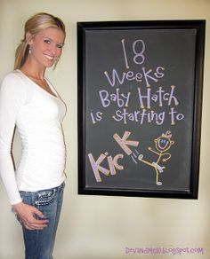 Chalk board weekly pregnancy tracker / blog.