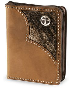 Hair on hide leather Bible cover Leather Bible Cover, Bible Covers, Christian Gifts, Cowboys, Handbags, Wallet, Brown, Hair, Tooled Leather