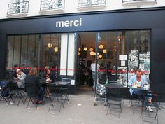 . Merci Store, Concept Store Paris, Retail Facade, Paris Design, Retail Shop, Commercial Design, Retail Design, Store Design, Cafe Idea
