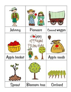 Johnny Appleseed Printable
