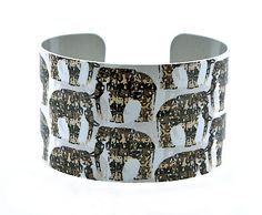 Elephant jewellery cuff bracelet wildlife animal by DeCumiDesigns